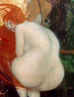 Gustav Klimt - Goldfish - Detail