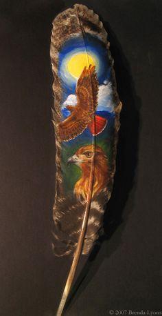"""Painted Feather - Sunflight"" par Brenda Lyons"