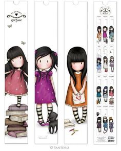 The Gorjuss 2014 Calendar features sweet stripey-socked girls in a series of cute images. Each monthly image captures a moment and draws you into the Gorjuss timeless world. Printable Planner, Planner Stickers, Printables, Paper Art, Paper Crafts, Santoro London, Diy Bookmarks, Homemade Bookmarks, Art Calendar