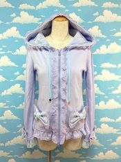 Big Ribbon Pocket Parka in Lavender from Angelic Pretty