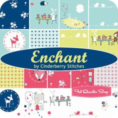 """Enchant 5"""" Stacker Cinderberry Stitches for Riley Blake Designs"""