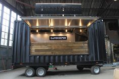 Amobox manufactures and converts light weight towable shipping containers. Shipping Container Restaurant, Shipping Container Design, Container Coffee Shop, Container Cafe, Food Truck Design, Food Design, Pizza Vans, Custom Food Trucks, Custom Bbq Pits