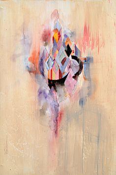 Jacob van Loon (USA) -Oort. Watercolor, acrylic, acrylic ink, acrylic medium, graphite, 31x41x5cm, original