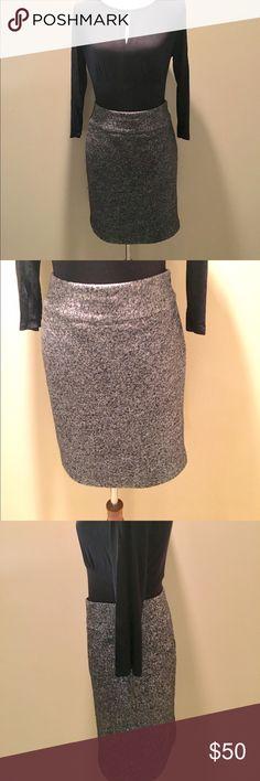 """Ann Taylor herringbone tweed pencil skirt Ann Taylor herringbone tweed pencil skirt.  Cotton wool blend  NWOT  21"""" from waist to hem. Hidden side Zipper Ann Taylor Skirts"""