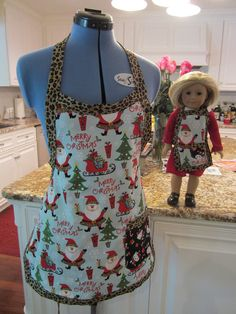 Matching Girl and American Girl Doll Apron