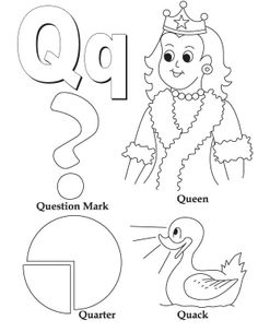 Q Is For Quarter Coloring For Kids