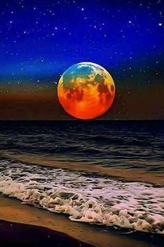 romantic and charming nature photographs! Beautiful Moon, Beautiful Places, Beautiful Pictures, Stars Night, Shoot The Moon, Moon Photography, Moon Art, Blue Moon, Amazing Nature