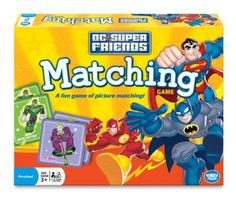 Super Friends Matching Game Matching and Memory Skills Turn-taking and playing together Product Includes 72 Picture Tiles and 1 Game Rules Manual Family Fun Games, Games For Kids, Superman Book, Superman Stickers, Forge Game, Thing 1, Preschool Games, Toddler Books, Matching Games