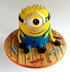 I don't care that I'm turning 21 on my next birthday. I WANT THIS CAKE! Minion Cake birthday party kids adult unisex cupcake popcake boys and girl Crazy Cakes, Fancy Cakes, Cute Cakes, Minion Birthday, Minion Party, Birthday Cakes, Minion Theme, Geek Birthday, Pastel Minion