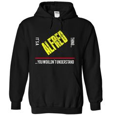 its a ALFRED thing T Shirts, Hoodies. Check price ==► https://www.sunfrog.com/Funny/it-Black-4925667-Hoodie.html?41382