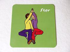Wat een plezier hadden de kinderen van de les. Op de kaartjes staat de houding dus ik laat het ze altijd zien. Direct gingen ze probe...