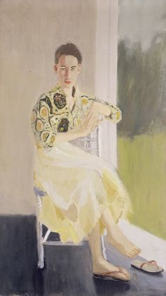 """Fairfield Porter, """"Jane Wilson"""" (1957), oil on canvas, 57 x 32 inches (© 2014 The Estate of Fairfield Porter / Artists Rights Society (ARS), New York)"""