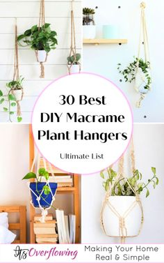 Make your home decor impressive with these 30 best DIY macrame plant hanger patterns that will help feature the greenery in your home. Macrame Plant Hanger Patterns, Free Macrame Patterns, Macrame Hanging Planter, Macrame Plant Holder, Plant Holders Diy, Hanging Plant Diy, Rope Plant Hanger, Greenery, Housewarming Gifts