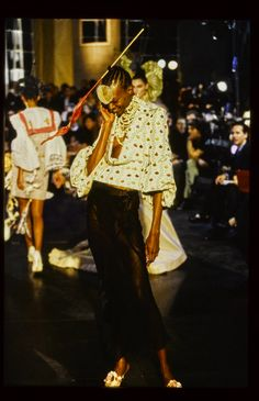 John Galliano Spring 1996 Ready-to-Wear Fashion Show - Debra Shaw