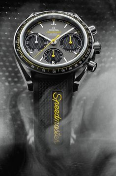 The Omega Speedmaster Racing Watch contains a decades-long connection to motor racing. Featuring a 40 mm stainless steel case with a matte black aluminum tachymetric ring on its bezel, it is offered in a choice of grey, grey/yellow or grey/red tachymetric scaling. The Speedmaster Racing is powered by an exclusive OMEGA caliber 3330 column-wheel chronograph which delivers such reliable timekeeping performance and stability that the chronograph comes with a full four-year warranty.