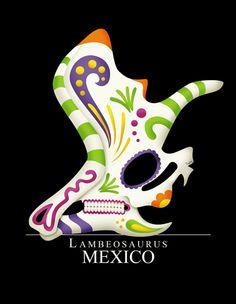 Dinosaurios Mexicanos / Mexican Dinosaurs by Tony Rey, via Behance