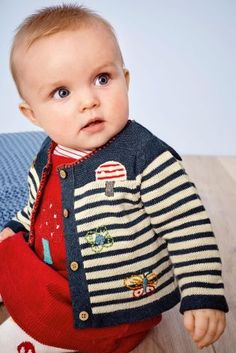 Buy Navy Stripe Embroidered Cardigan (0mths-2yrs) online today at Next: United States of America