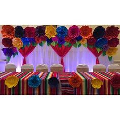 85 Likes, 6 Comments - Crafts By Betty (@craftsbybetty) on Instagram Paper flowers, backdrops, PDF templates, giant paper flowers, party ideas, party decorations, Mexican fiesta, Mexican theme party.