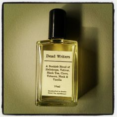 Due to popular request, the Dead Writers blend is now available in a perfume/cologne oil. This blend evokes the feeling of sitting in an old library chair paging through yellowed copies of Hemingway, Shakespeare, Fitzgerald, Poe, and more. The Dead Writers blend makes you want to put on a kettle of black tea and curl up with your favorite book.