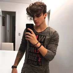 45 Trending Hairstyles For Men Cool Mens Haircuts, Boys Long Hairstyles, Hairstyles Haircuts, Trending Hairstyles, Hair And Beard Styles, Curly Hair Styles, Men Hair Color, Awesome Beards, Hair Inspiration