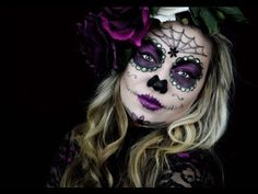 Here is my first Halloween makeup upload of 2014! An easy Mexican Sugar Skull using Supracolor from Kryolan, and eyeshadow. You can substitute the cream base...