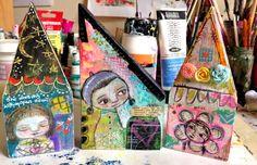 TandiArt: Mixed media whimsical houses