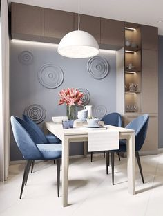 Modern Dining Room Ideas – Modern style design has clean lines and curves, without clutter. The modern wall colors are […] Modern Home Interior Design, Interior Architecture, Modern Design, Dining Room Sets, Dining Room Design, Apartment Design, Home And Living, Room Decor, Decoration