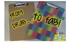 Make fun clipboards for your students to use for read and write the room activities! Writer Workshop, Grade 1, First Grade, Fun Crafts For Kids, School Organization, Creative Teaching, Teacher Gifts, Teacher Stuff, School Projects