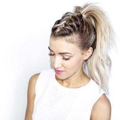 viking ponytail women - Google Search Gym Hairstyles Easy, Winter Hairstyles, Prom Hairstyles, French Hairstyles, Festival Hairstyles, School Hairstyles, Everyday Hairstyles, African Hairstyles, Latest Hairstyles