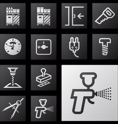 Icon set for a waysigning project / Leffe #icone #grafica #wayfinding #segnaletica
