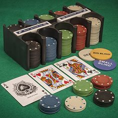 Details about poker set - fun casino games blackjack poker roulette playing cards & chips game