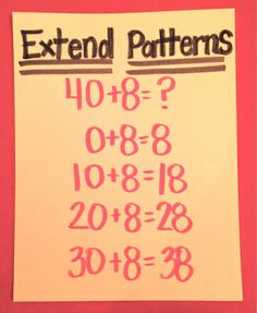 Promote Number Sense in the Classroom: Extend Patterns (Blog Post) I encountered a giant gaping hole in a student's thinking that has me thinking about it all night.