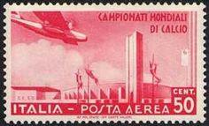 Italy Stamp - II° Campionato mondiale di calcio - Stadio di Torino