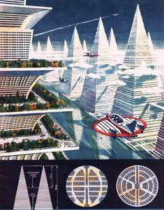 Future Moscow 1920-30, retro-futuristic, futuristic building, future architecture, sci-fi, futuristic vehicle, flying car, skyscrapers