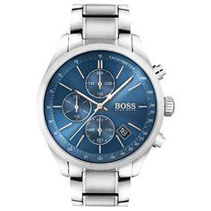 Brand New Hugo Boss Grand Prix Chronograph Men Watch Hugo Boss Watches, Gents Watches, Watches For Men, Sport Chic, Sport Casual, Emporio Armani, Grand Prix, Montres Hugo Boss, Herren Chronograph