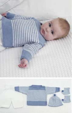 free-knitting-pattern-baby-top-pants-hat-and-booties More