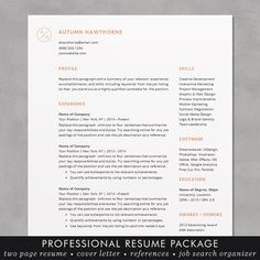 resume template cv template for word mac or pc professional design free cover letter creative minimal teacher the autumn