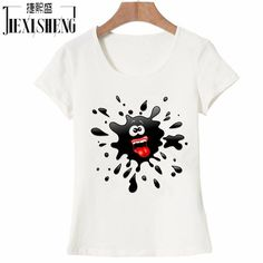 Novelty Rich expression Black ink Printed women t shirt funny fashion tops tees 100% Cotton big size Brand tshirt HH259