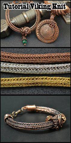 2019 The post Wire Wrap tutorial. 2019 appeared first on Metal Diy. Viking Knit Jewelry, Wire Weaving Tutorial, Handmade Wire Jewelry, Wire Wrapped Bracelet, Chain Bracelets, Copper Bracelet, Wire Crochet, Diy Jewelry Inspiration, Jewelry Making Tutorials