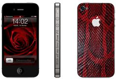 iPhone 4 red python Phone Covers, Python, Iphone 4, Concept, Luxury, Red, Leather, Design, Mobile Covers