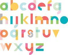 Responsive Type Alphabet by Hudson-Powell Hand Lettering Alphabet, Alphabet Print, Typography Letters, Self Branding, Branding Design, Logo Design, Type Design, Preschool Logo, Poster