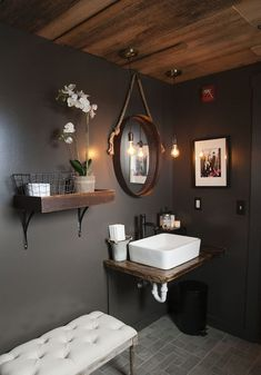 Get inspired by Modern Rustic Bathroom Design photo by TANIA KRATT Interior Architecture & Design. Wayfair lets you find the designer products in the photo and get ideas from thousands of other Modern Rustic Bathroom Design photos.