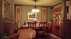 Arts & Crafts - Craftsman - Bungalow - Colonades Craftsman Style Interiors, Craftsman Style Bungalow, Bungalow Homes, Craftsman Bungalows, Craftsman Dining Room, Craftsman Decor, Craftsman Homes, Arts And Crafts Interiors, Mission Furniture