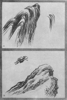 Loose Rice Leaves (a). Withered Kindling Twigs (b). Japanese Art Prints, Japanese Art Modern, Japanese Landscape, Japanese Painting, Chinese Painting, Chinese Art, Art Journal Techniques, Painting Techniques, Sumi E Painting