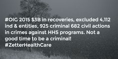 #OIG 2015 Accomplishments Not a good time to be a criminal! Take the weekend to think about it. #ZetterHealthCare
