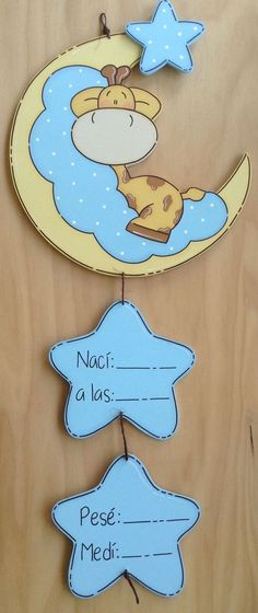 ideas baby boy art ideas shower gifts for 2019 Baby Crafts, Diy And Crafts, Crafts For Kids, Baby Door Hangers, Baby Shawer, Tole Painting, Baby Decor, Shower Gifts, Baby Boy Shower