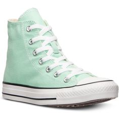 Converse Women's Chuck Taylor High Top Casual Sneakers from Finish... ($50) ❤ liked on Polyvore featuring shoes, sneakers, converse, american shoes, print shoes, patterned shoes, converse footwear and high top shoes