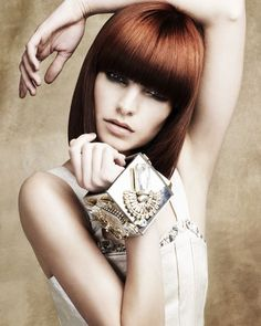 Haircut Ideas for Red Hair : Red hair: mid-length hairstyle