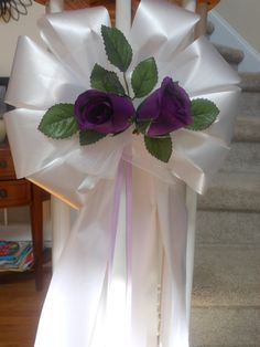 your colors roses tulle & accent ribbon pew bows wedding decoration many… Wedding Pillars, Wedding Pews, Wedding Events, Wedding Reception, Weddings, Pew Decorations, Church Wedding Decorations, Pew Bows, Aisle Flowers
