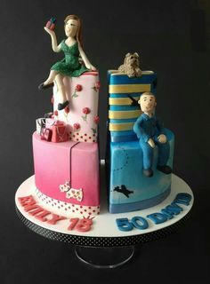 Joint birthday cake for father and daughter Cakes Pinterest